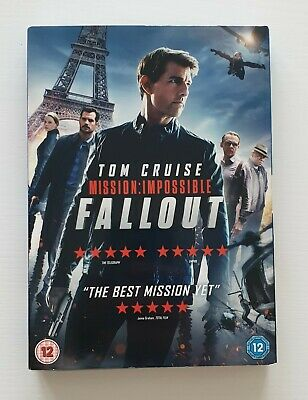 Mission: Impossible - Fallout [DVD] Slipcase [2018] Tom Cruise [New & Sealed]