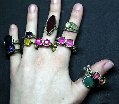 Boho Rings (Kuchi Ring Set) - Antique Post-medieval Joblot 1