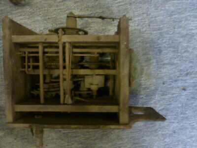Postmans alarm / blackforest wall clock movement for spares / repair (2)