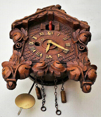 coucou miniature foret noire  kuckucksuhr cuckoo clock antique black forest