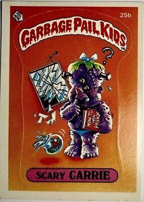 *RARE* Original 1985 Series 1 Garbage Pail Kids Scary Carrie 25b