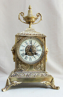 French Clock Bronze  Neo Gothic 1870 Rich Ornamented
