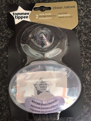 Tommee Tippee Nipple Shields Breast Protection with Sterilisable Case - 2 Pack