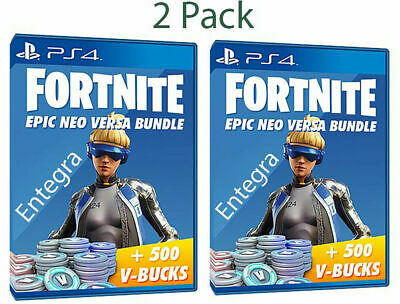 (2 PACK) Fortnite: Epic Neo Versa Skin + 500 VBucks PS4 (USA) FAST DELIVERY