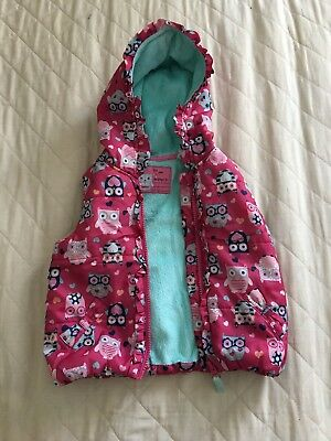 Baby Girls Pink Floral Gilet Age 1