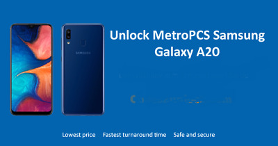 USA SELLER T-mobile Galaxy A20 A205U A10 A102U MetroPCS Remote Unlock service