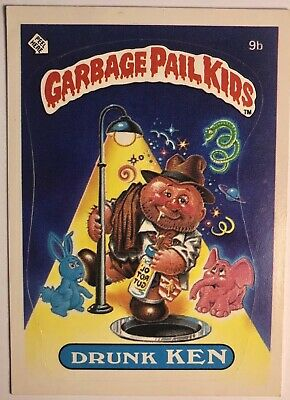 *RARE* Original 1985 Garbage Pail Kids Series 1 Drunk Ken 9b