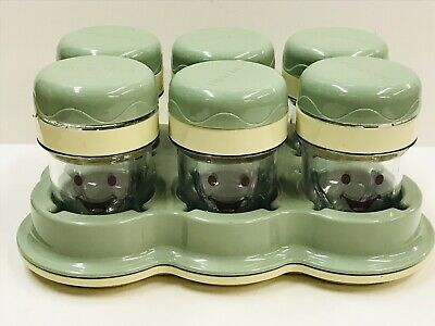 Baby Bullet Replacement Date Dial Storage Set - 6 Cups with Tray