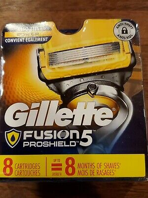 Gillette Fusion Proshield 5 Razor Blades 8  Cartridges USA NEW FACTORY SEALED