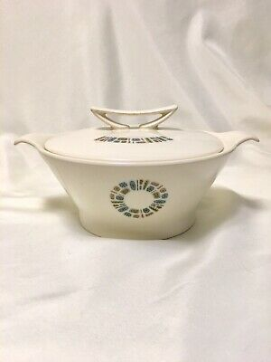 Canonsburg Temporama Mid Century, Atomic, Veggie Serving Bowl Casserole with lid
