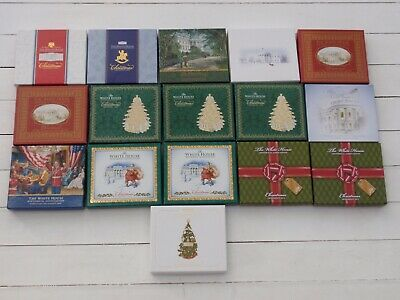 16 The White House Historical Association Christmas Ornaments 2002-2015