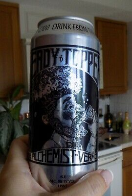 Heady Topper IPA Beer CAN Empty,The Alchemist Waterbury,VT Vermont Brewery 16 oz