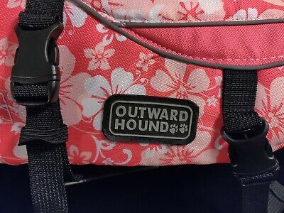 Outward Hound Pet Saver Life Jacket Vest Small Dog 15-30 Lbs Pink White Floral