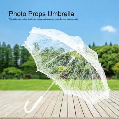 Hot Lace Wedding Umbrella Embroidery Bridal Party Decoration Photo Props 42x47cm