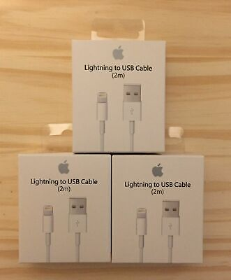 3X 6Ft 2M Lightning USB Cable For Apple iPhone 6s 6 5 5s 7 8 X Data Sync Charger