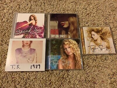 [2] Taylor Swift 5 Cd Lot 1989 Red Speak Now Self Titled Fearless