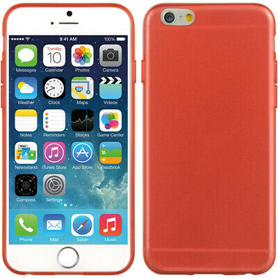 """Ultra Slim Transparent Rouge Mince TPU Coque Skin pour Apple IPHONE 6 (4.7 """")"""