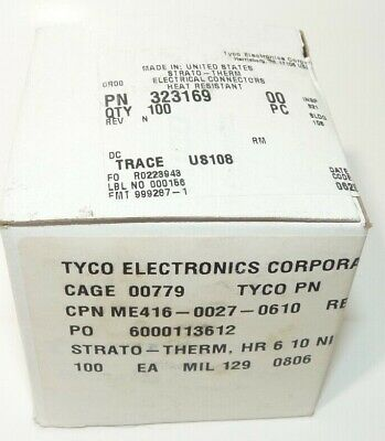 100X TE Connectivity Tyco Amp 323169 SOLISTRAND Ring Terminal 6 awg #10 stud
