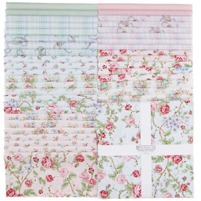 Quilting Fabric Henry Glass Layer Cake - Morning In The Garden X 42