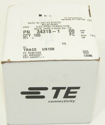 100X TE Connectivity Tyco Amp 34318-1 SOLISTRAND Splice Connector 8 awg
