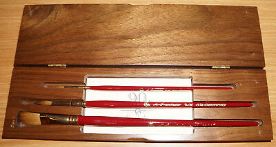 Grumbacher 90th Anniversary Commemorative Brush Sets for Watercolor NEW