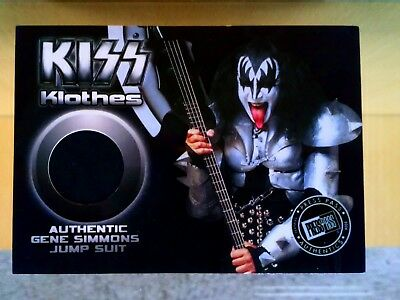 KISS Klothes Gene Simmons stage worn jump suit relic Presspass 2009