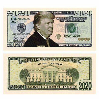Pack of 10 - American Donald Trump 2020 Re-Election Presidential Dollar Bill