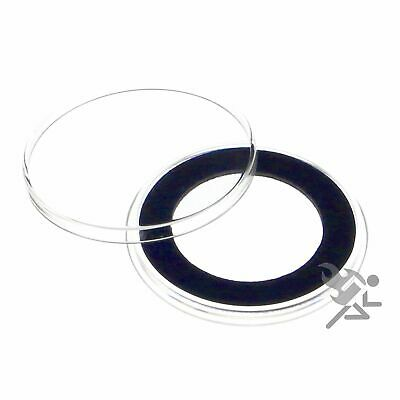 (5) Air-tite 32mm Blue Velour Colored Ring Coin Holder Capsules for 1oz