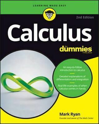 NEW Calculus For Dummies By Mark Ryan Paperback Free Shipping