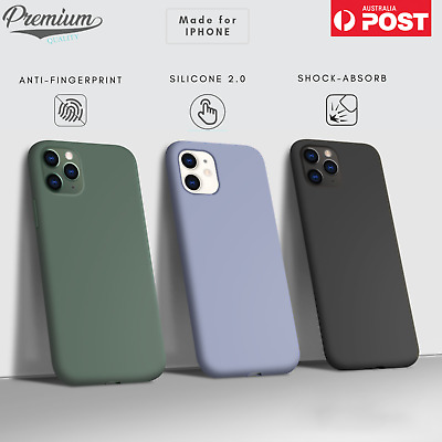 For Apple iPhone 11/Pro/Pro Max Case Shockproof Liquid Silicone Ultra Slim Cover