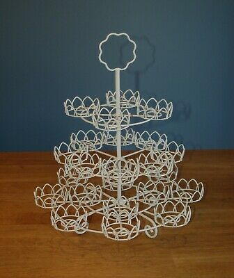 """3 Tier Metal Cupcake Stand holds 24 Cakes 16"""" High"""