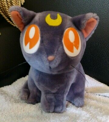"Vintage Sailor Moon  "" Luna Cat""  Plush Toy Doll."