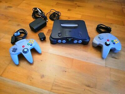 Nintendo 64 N64 Console with 2 Controllers and all leads