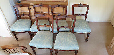 Set of 6 x matching late Victorian/Edwardian dining chairs