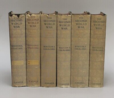 Attractive Set Of Six Books The Second World War Vol 1 -6 By Winston Churchill