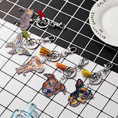 Cute Keyrings Metal Key Chain Ring horse Pony Animal KeyChain Collectable Gift
