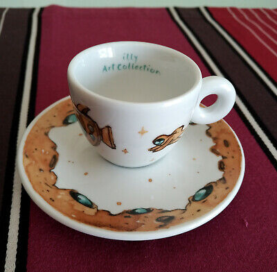 Tazzina Caffe' Illy Art Collection 2018 Max Petrone - Cup + Saucer Signed