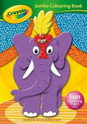 Crayola Jumbo Colouring Book 160 Pages of Fun colours children gifts UK SELLER