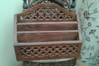 Beautiful....LETTER RACK...Made of WOOD...GOOD CONDITION.