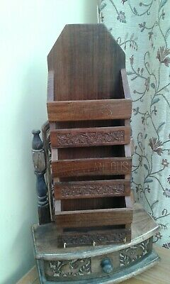 Beautiful....LETTER/MAIL ORGANISER RACK...Made of WOOD...GOOD CONDITION.