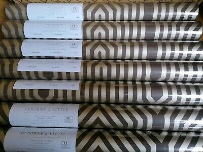 7 Rolls Wide Washable Wallpaper Brown/Gold