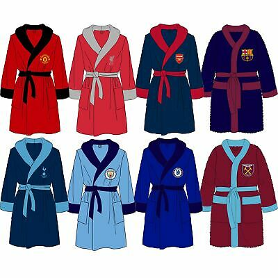 Mens Official Football Club Fleece Dressing Gown/Robe Size Small Medium Large XL