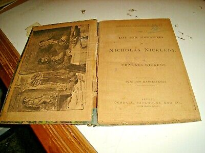 Tea Life and Adventures of Nicholas Nickleby by C.Dickens - Goodall Leeds 1913