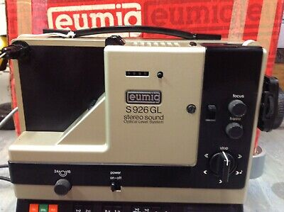 Vintage Eumig S926 Gl Stereo Sound Opitical Level System