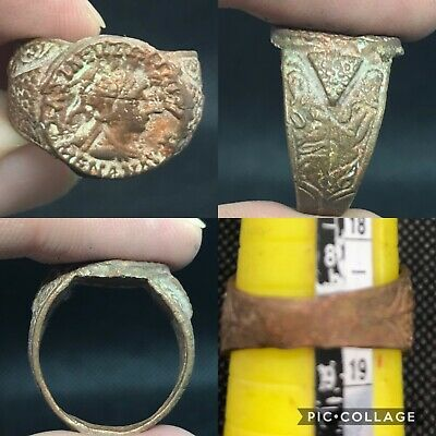 intact wonderful ancient Roman Empire bronze ring