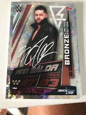 WWE Slam Attax Universe Finn Balor Bronze Limited Edition Card Topps