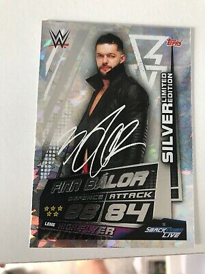 WWE Slam Attax Universe Finn Balor Silver Limited Edition Card Topps