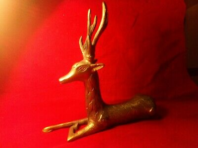 Stag 🦌 Deer Solid Brass Beautiful High Quality Casting Heavy Large