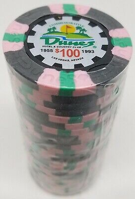 Poker Chips (25) $100 Dunes Commemorative 9 gram Clay Composite
