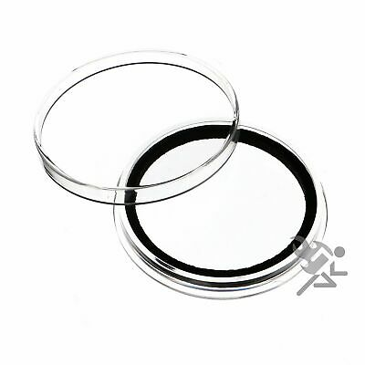 (15) Air-tite X43mm Black Ring Coin Holder Capsules for $10 Silver Strikes